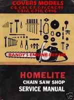 Homelite Service Information Maintenance Care Manual C5 C51 C7 C71 C9 G+