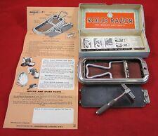 Vintage ROLLS RAZOR VISCOUNT MODEL Safety England Shaving Handle Instructions