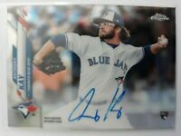 2020 Topps Chrome Anthony Kay Rookie RC AUTO #RA-AK Toronto Blue Jays On Card
