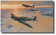 Midwinter Dawn by Robert Taylor - Spitfire - 'Johnnie' Johnson