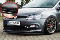 Spoilerschwert Frontspoiler Cuplippe für VW Polo 5 6C aus ABS schwarz glänzend