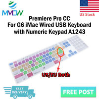 Premiere Pro CC Hotkey Silicone Keyboard Cover for iMac G6 Numeric Keypad A1243