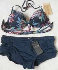 Fat Face Tropical Plunge Bikini Top Size 12