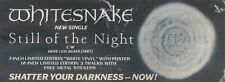 21/3/87pgs13 ADVERT Whitesnake New Single 'still Of The Night' Out Now 4x11