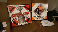 * B.C. Lions and CFL Grey Cup Display Signs CFL Hall of Fame