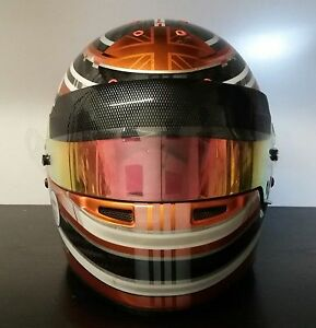 Helmet Visor strip fits Bell, looks like F1 drivers Zylon Strip