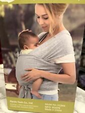 Baby Wrap Carrier Sling Gray 5-35 Lbs. Cotton Spandex Innobaby