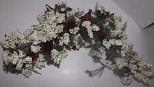 Christmas Greenery Arch Swag White Clusters Red Berries Real Pine Cones New $25