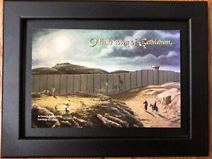 Banksy original vintage Pre Walled Off Hotel Bethlehem Postcard for CNI