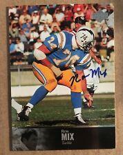1997 Upper Deck Legends Ron Mix #AL-52 AUTOGRAPH Football Card NM Chargers
