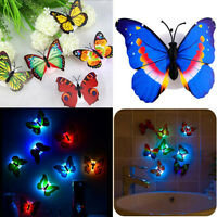 Butterfly LED Night Light Lamp Colorful Changing Home Room Party Desk Wall Decor