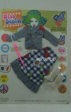 Barbie sized doll mod clone Miss Denim fashion for 11,5 inch doll clothes