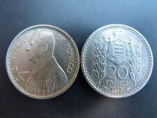 Pièce monnaie MONACO 20 Francs 1947 LOUIS II bon état
