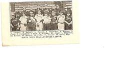 South Bend Greens 1907 Team Picture Donie Bush Frank Cross Hosea Siner