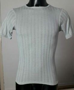 Unisex Kurzarm-Unterhemd | Nadelstreif-Optik