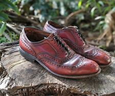 Allen Edmonds MCALLISTER Oxfords Shoes lace Up Mens 7.5 E Burgundy
