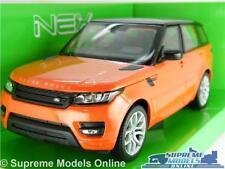 RANGE ROVER SPORT MODEL CAR 1:24 SCALE CHILI RED ORANGE LAND 4X4 WELLY CHILLI K8