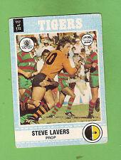 1977 SCANLENS RUGBY LEAGUE CARD   #117 STEVE LAVERS, BALMAIN TIGERS