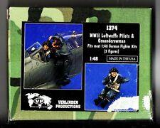 VERLINDEN 1374 - WWII LUFTWAFFE PILOTS & GROUNDCREWMAN 1/48 RESIN KIT NUOVO