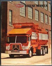 1995 Peterbilt Brochure Refuse Garbage Truck Model 320 Excellent Original 95