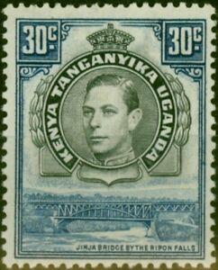 K.U.T 1938 30c Black & Dull Violet-Blue SG141 P.13.25 Good Mounted Mint (2)