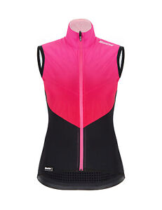 Santini Women's Redux Genio Cycling Wind Vest in Pink - Made in Italy