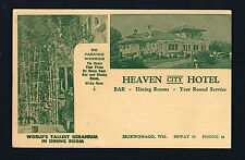 Mukwonago Wisconsin WI c1950 Heaven City Hotel & Bar, Fly In Service Too, ADV PC
