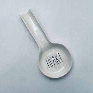 RAE DUNN Magenta HEART Spoon Rest Holder Farmhouse Black Lettering Valentine's