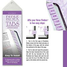 Bible Tab-Verse Finders-Horizontal-Thin Pack-Lavender Damask