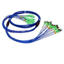 10M Indoor Armored Fiber Cable SC APC-FC APC 12 Strand SM 9/125 Fiber Patch Cord