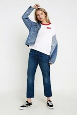 New Levi's 501 High Waist Crop Jeans in Rebel Size 29