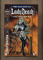 2012 Lady Death FCBD 1 Signed Brian Pulido Boundless Free Comic Book Day Edition