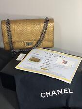 1096659d76ab $10500 VERIFIED CHANEL Python Reissue Classic Jumbo Double Flap Bag LIMITED  SALE