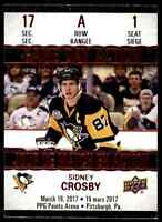 2017-18 Upper Deck Tim Hortons Game Day Action Sidney Crosby . #GDA-1