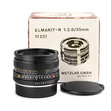 Leica 35mm f/2.8 ELMARIT-R E55 Lens V3 (Last version) 1980s Issue *EXC in Box*
