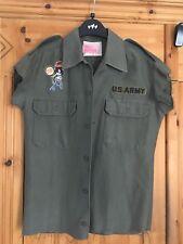 Top Shop vintage/ customised Camo biker Shirt / Jacket. Paul's Boutique