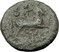 PHILIP V 200BC Macedonia King Authentic Ancient Greek Coin ZEUS HORSE i61476