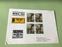 Austria Wipa 1981  Wien Registered stamps cover ref 50588