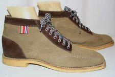 8 DeadStock Vtg 70s Chukka Boot Sheboygan Mens 2-Tone Hippie Suede Ankle Shoe