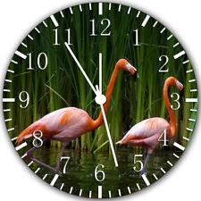 Beautiful Flamingo Frameless Borderless Wall Clock Nice For Gifts or Decor Z96