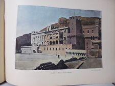 Monaco : Gravure 19° in folio couleur /LE PALAIS DU PRINCE