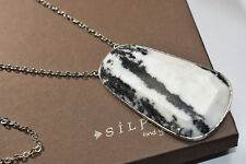 """Silpada~ """"Wild Thing"""" Sterling Silver & Agate Necklace 30""""Long~N2736~"""