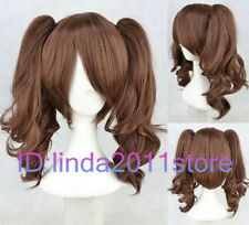 New Lolita Brown Two Ponytail Cosplay Wigs Cos Wig + free wig cap