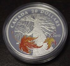 2013 Canada $20 Fine Silver  - Canadian Maple Canopy ( Autumn )