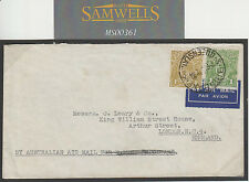 MS361 1934 AUSTRALIA AIRMAIL Attractive *KGV Sideface* Franking Commercial Cover