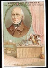 IMAGE CHROMO CHOCOLAT POULAIN / Philippe DE GIRARD INVENTEUR de MACHINE à TISSER