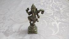 Vintage Hindu God Dancing Silver Ganesh Ganesha Figurine Sculpture Statue