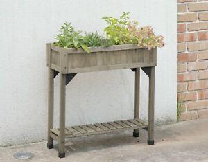 VegTrug Slimline 4 Pocket Herb Garden - Grey