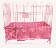 Cushioned Borders for Pet Crates HEARTS PINK