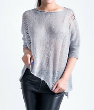 NWT Ladies knit sweater jumper round neck w/ sequins T-shirt style